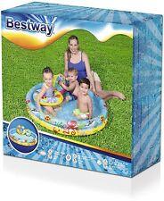 BESTWAY Set Baby Kinder Planschbecken Schwimmring Strandball Schwimmbecken Pool