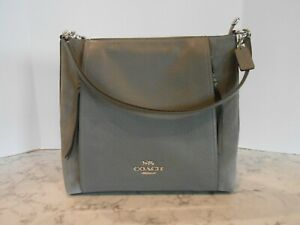 COACH F79995 Heather Grey/Silver MARLON Hobo Buffalo Leather/Suede NEW SOLD OUT