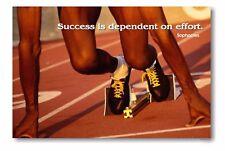 Success dependent on effort - Starting Block NEW School Classroom POSTER