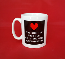 Undertale Inspired Tea Mug 11oz - Heart filled with determination