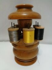 Vintage Wood Treen Sewing Caddy  Peaseware OH Treenware