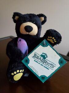 "Bearfoots Bears by Jeff Fleming ""Chuckie"" Black Bear Fish Plush Big Sky Carvers"