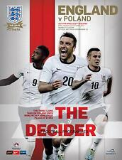 * ENGLAND v POLAND (15th OCTOBER 2013) WORLD CUP QUALIFIER MINT PROGRAMME *