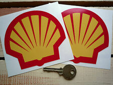 "Shell moderno con el logotipo Race Car Pegatinas 4 ""par F1 Rally Grand Prix Formulaone Racing"