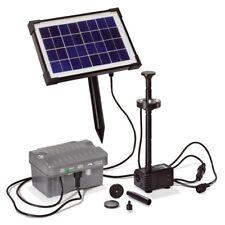 LED Pompe Solaire de Bassin Batterie D' Étang Jardin Set