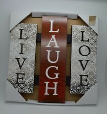 Live Laugh Love Inspirational Wood wall sign Hanging Art #5A
