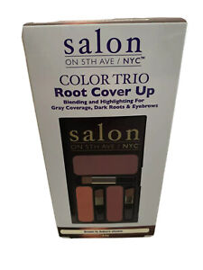Salon On 5th Ave NYC Color Trio Root Cover Up Brown to Auburn Shades 5.5g