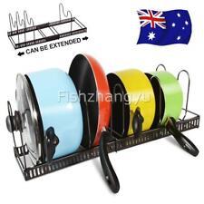 Pot Lid Holder Rack Cabinet Pantry Pan Cookware Organizer Kitchen Storage AU