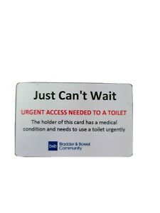 I just can't wait -  card with holder and lanyard. PVC plastic card