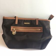 Michael Kors Nylon Kelsey Top Zip Medium Tote Bag Brown