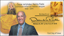 17-042, 2017, Oscar de la Renta, Fashion Design, FDC, Pictorial Cancel, Yellow