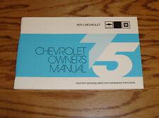 1975 Chevrolet Full Size Car Owners Operators Manual 75 Impala Caprice Classic
