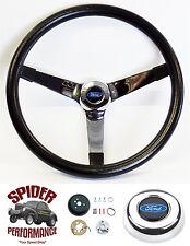 """1967-1974 Bronco steering wheel BLUE OVAL 13 1/2"""" VINTAGE steering wheel"""