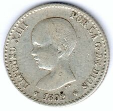 Spanien Alfonso XIII./Isabel (1886-1931) 50 Centimos 1892 PG-M. KM#690, ss/vz