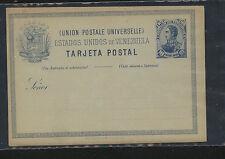 Venezuela  postal card 10 cents  blue  unused  nice item            MS1217
