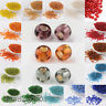 50g 3mm 8/0 Round Glass Silver Lined Seed Beads 19 Colors Jewellery Craft Making