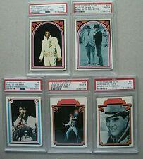 Lot of (5) 1978 Donruss Elvis Presley Cards Graded PSA 9  Mint