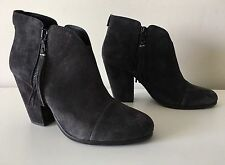Rag & Bone Margot Fringe Cap Toe Suede Leather Ankle Bootie. Size 39.5