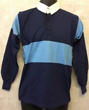 "Mens Rugby Shirt Stripe Long Sleeve Rugby Jersey Polo Shirt Top Size 36"" (#4897)"