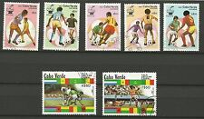 FOOTBALL Espagne 82 Cap-Vert  Cabo Verde un lot de timbres oblitérés /T237
