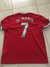 Angel Di Maria 7 Manchester United Shirt Large Nike Home Jersey Argentina