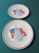 Vintage 1991 Statue of Liberty Corelle 2 Plates by Corning 10.25""
