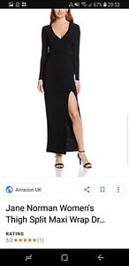 JANE NORMAN LADIES LONG BLACK DRESS UK 14 EUR 40 BRAND NEW WITH TAGES