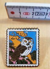 Owl 25 c, stamp pin, US Postal Service, USA
