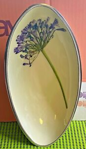 Tilnar Art-by Meg Hawkins-Agapanthus Boat Bowl-Handmade-Ornamental Home Décor