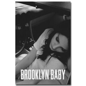 Lana Del Rey Music Singer Art Silk Poster Brooklyn Baby