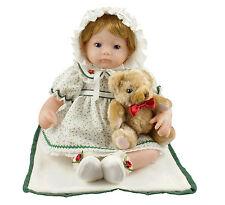 16-Inch Green Lovely Baby Girl for Children Vinyl Doll with Bear Cosette