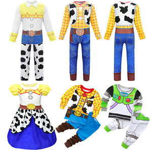 Toy Story Woody Jessie Buzz Lightyear Cosplay Costume Adult Kids Fancy Outfit