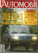 L'AUTOMOBILE N°522 1989 PEUGEOT 309 GTI 16S FIAT UNO TURBO FORD FIESTA XR2