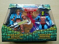 MASTERS OF THE UNIVERSE LASER POWER HE-MAN AND LASER LIGHT SKELETOR CLASSICS