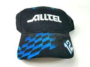 Ryan Newman 12 Mens Black Blue OSFM Nascar Adjustable Alltel Logo Hat NWT