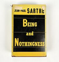 Being and Nothingness by Jean-Paul Sartre Hard Cover with Dust Jacket 1956.