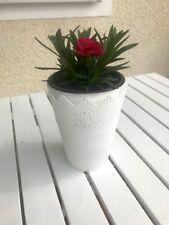Blumentopf *2er Set * Übertopf * romantische Pflanzkübel *rund*klein #Balkondeko