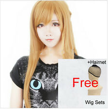 Asuna Long Hair Sword Art Online Wigs Main Heroine Role Play Wig Yellow Straight