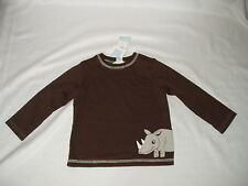 JANIE AND JACK boys reversible RHINOCEROS top SHIRT Size 18 - 24 months NWT