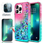 For iPhone 12 Pro 13 Pro Max Case Clear Bling TPU Cover/Screen Camera Protector