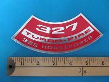 "** CHEVY Corvette Air Cleaner STICKER DECAL "" 327 Turbo-Fire 325 HORSEPOWER **"