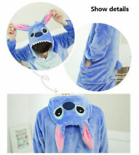 Unisex Pajamas Kigurumi Cosplay Costume Animal Pyjama Sleepwear Stitch Size M