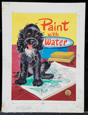 "GEORGE TRIMMER 1952 Original Cover Art - ""Paint with Water"" (A27)"