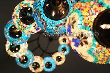 11-BALL TURKISH  MOSAIC CHANDELIER, LARGE GLOBES, turquoise