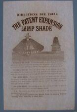 Lamp Shade broadside Woodsum & Co Boston Ma Woodsum's Polish Lighting directions