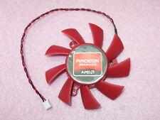 65mm ATI Sapphire VGA Video Card Fan Replacement 39mm 2Pin FD7015H12S 12V 0.43A