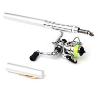 1M / 1.4M Pocket Collapsible Fishing Rod Reel Combo Mini Pen Fishing Pole N5K7