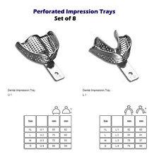 Perforated Impression tray set of 8 cubetas de impresion dental metal