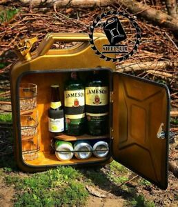 mini bar jerry can camping picnic fuel canister NEW man cave handmade metal gift