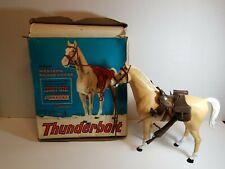 Vintage Marx Johnny West Thunderbolt Western Range Horse With Box
